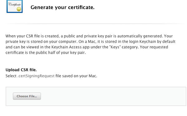 "Genarate|Add iOS ""Certificate"""